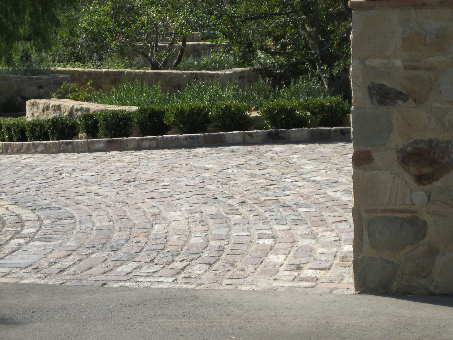 Stone block pavers