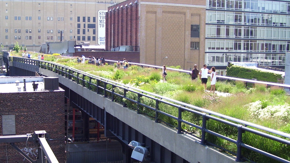 High line 20th St. with downtown view