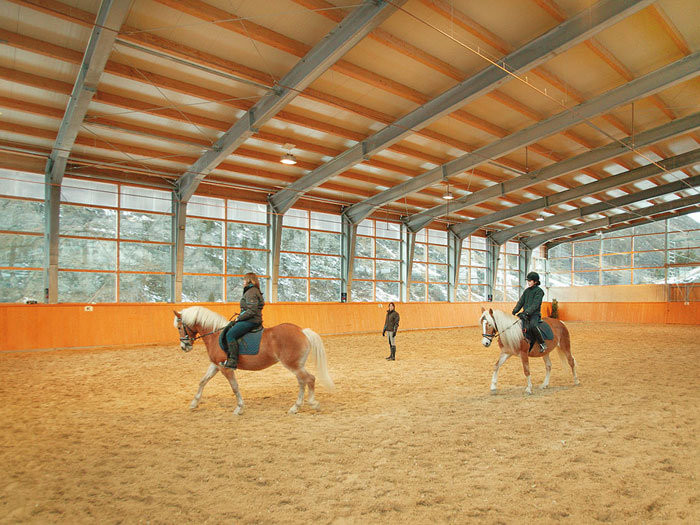 Horseback riding indoor