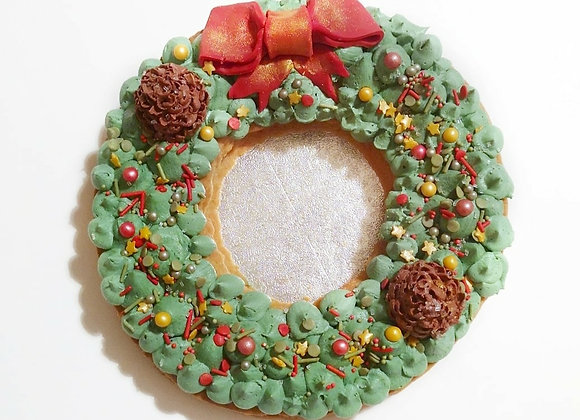 Shortbread Christmas Wreath