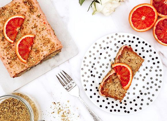 Pistachio & Blood Orange Loaf Cake