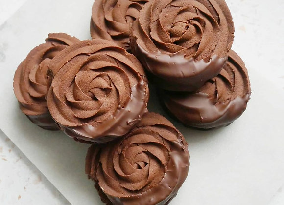 Chocolate Orange Viennese Whirls