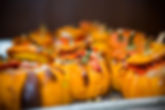 Lobster risotto in baby pumpkins