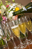 Kick off dinner with a champagne toast