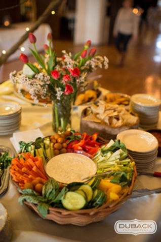 In house catering Photo by Duback Photography