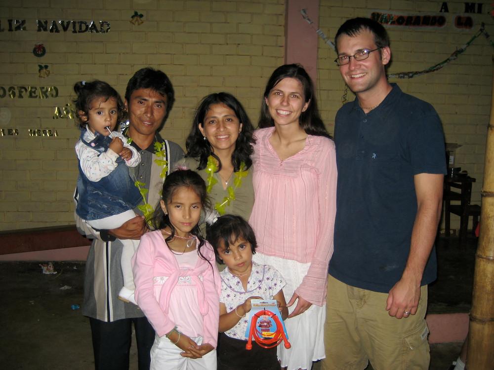 Jen and Tom in Peru