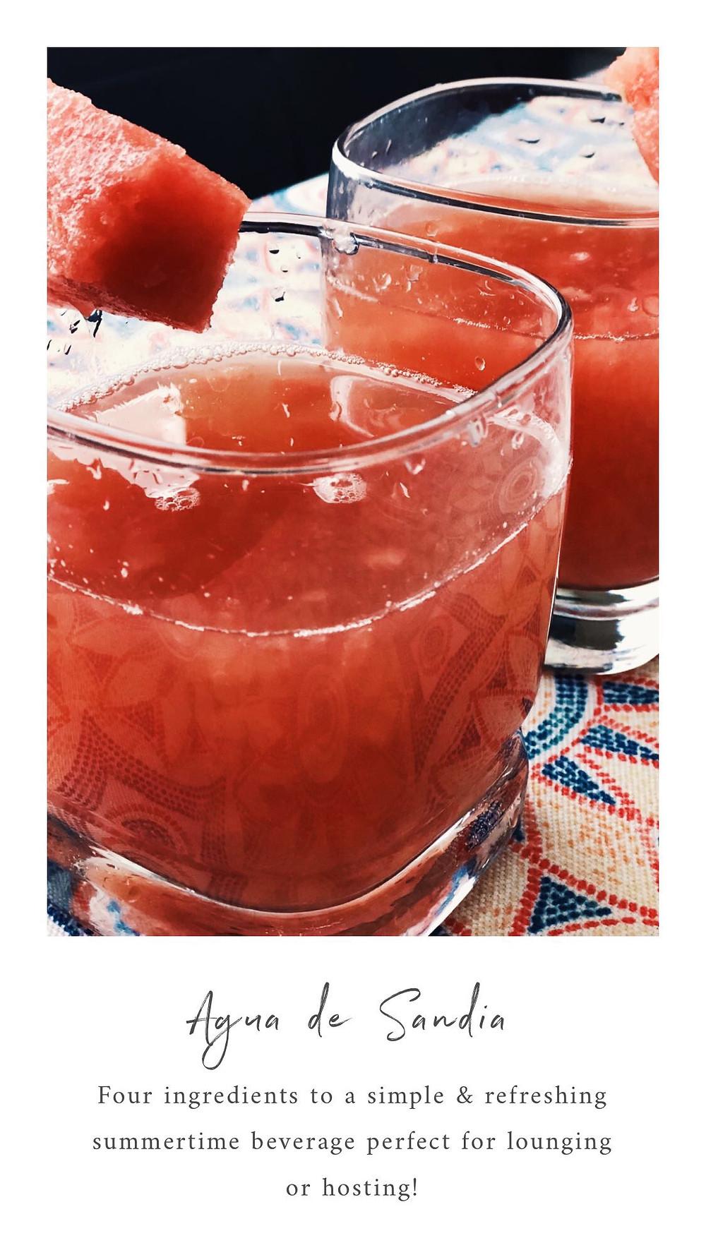 Homemade Agua de Sandia