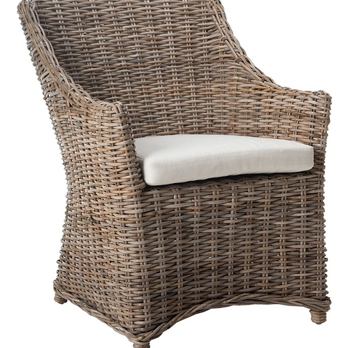 Wicker Slope Arm Accent Chair