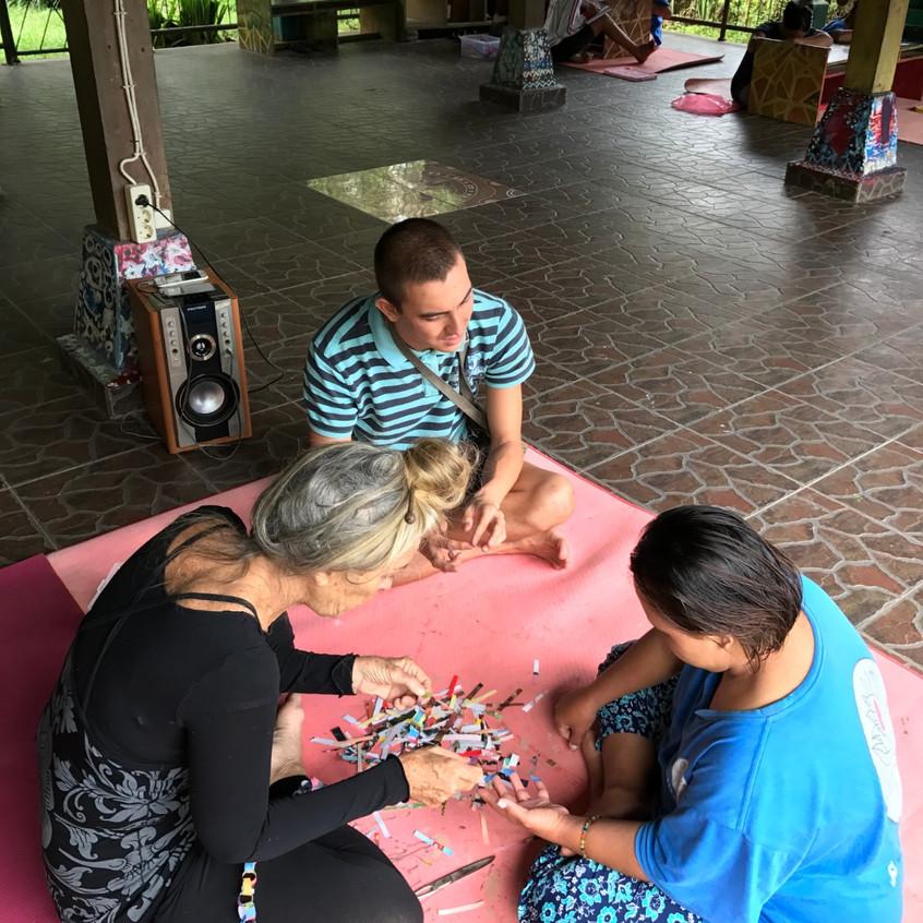 Sebastien in arts and craft activity at