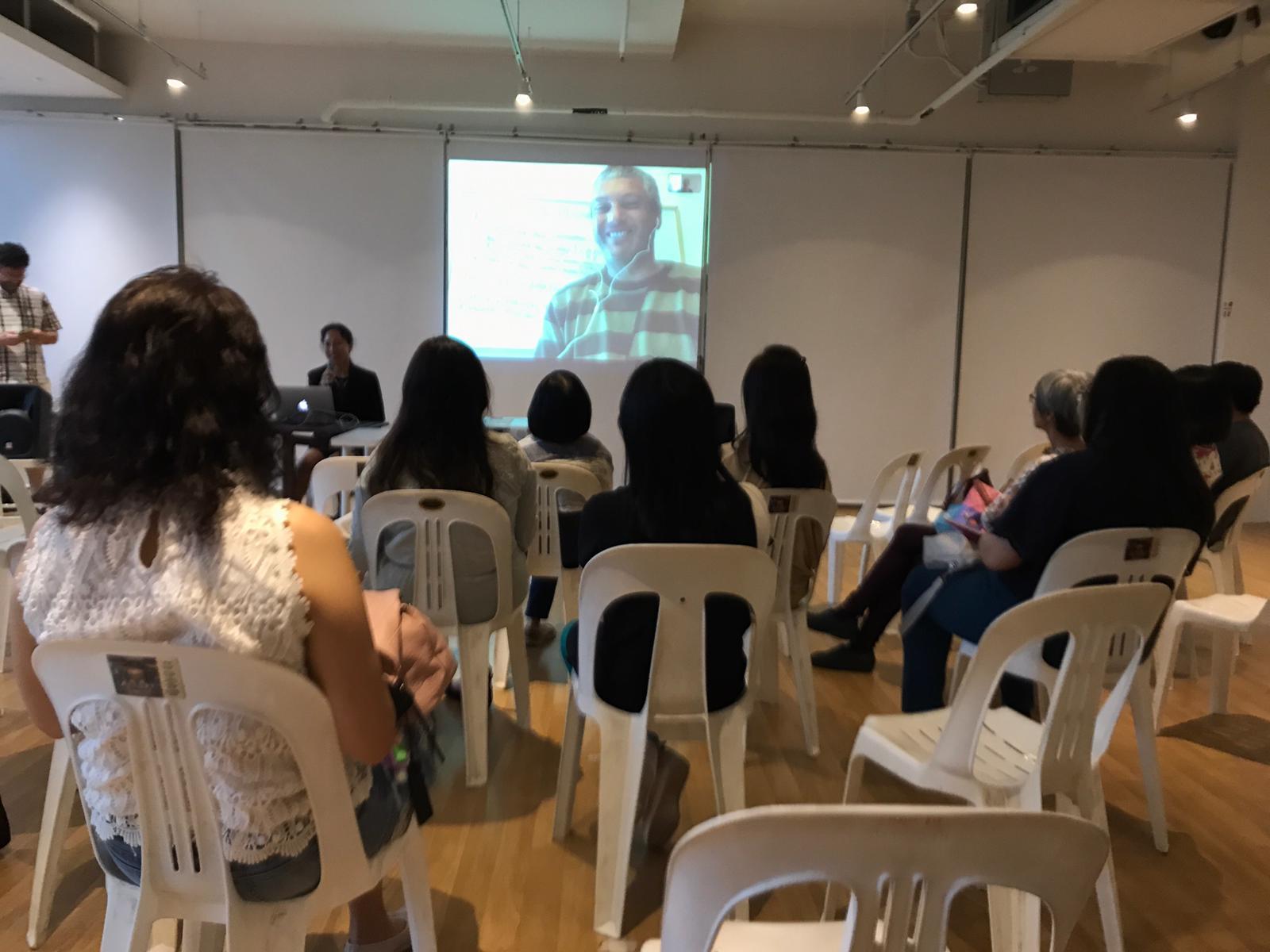 Dr. Antonio Rinaldi speaking via Skype