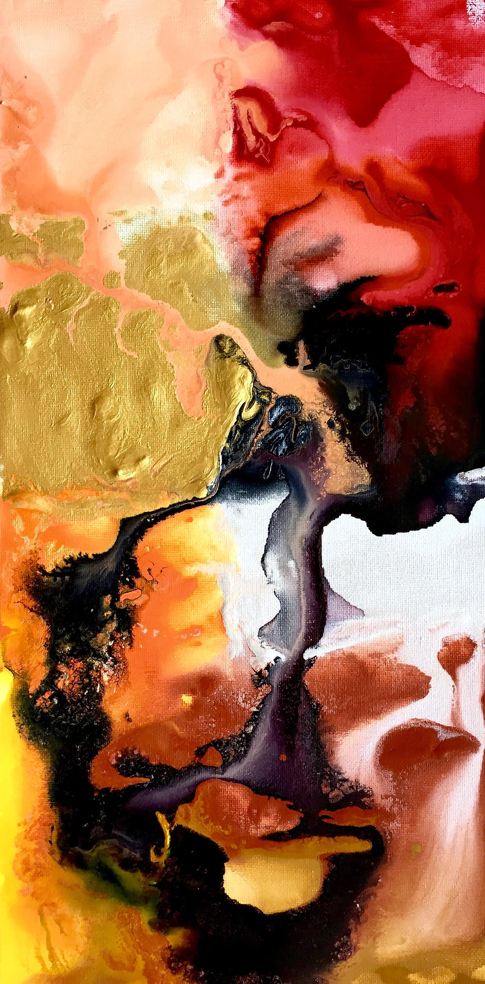 Lava Soul, Water Colour Painting