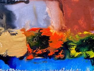Painting Series by Jean-Sebastien Choo, Self-taught Autistic Artist #14— Floating Sunshine