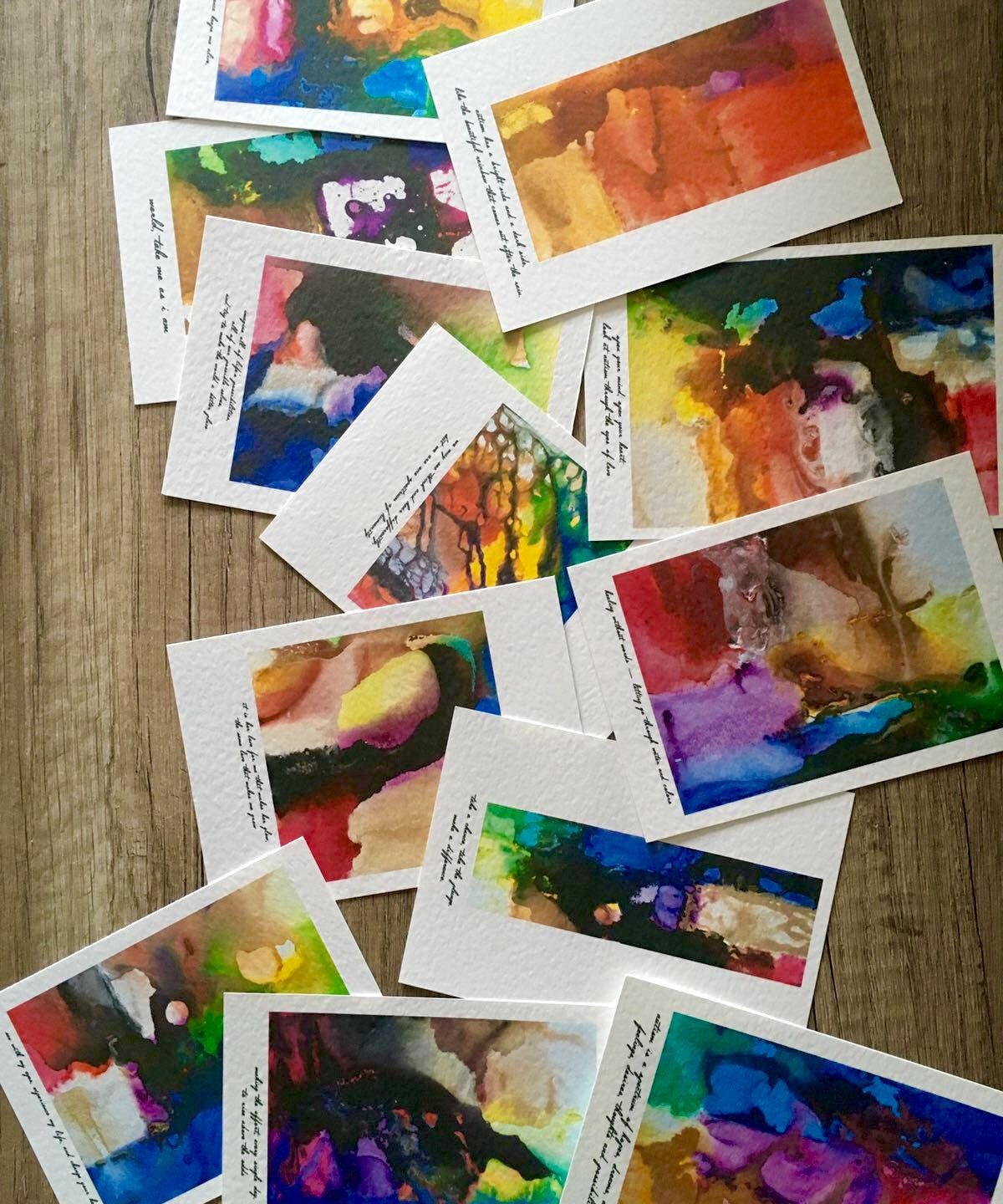 stationery cards of Seb's paintings