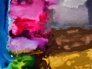 Painting Series by Jean-Sebastien Choo, Self-taught Autistic Artist #10— Rainbow Twilight