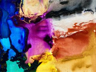 Painting Series by Jean-Sebastien Choo, Self-taught Autistic Artist #17— Glowing Mind