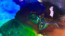 Paintings by Jean-Sebastien Choo, Self-taught Autistic Artist — Pearl (9 x 12 in, water color)