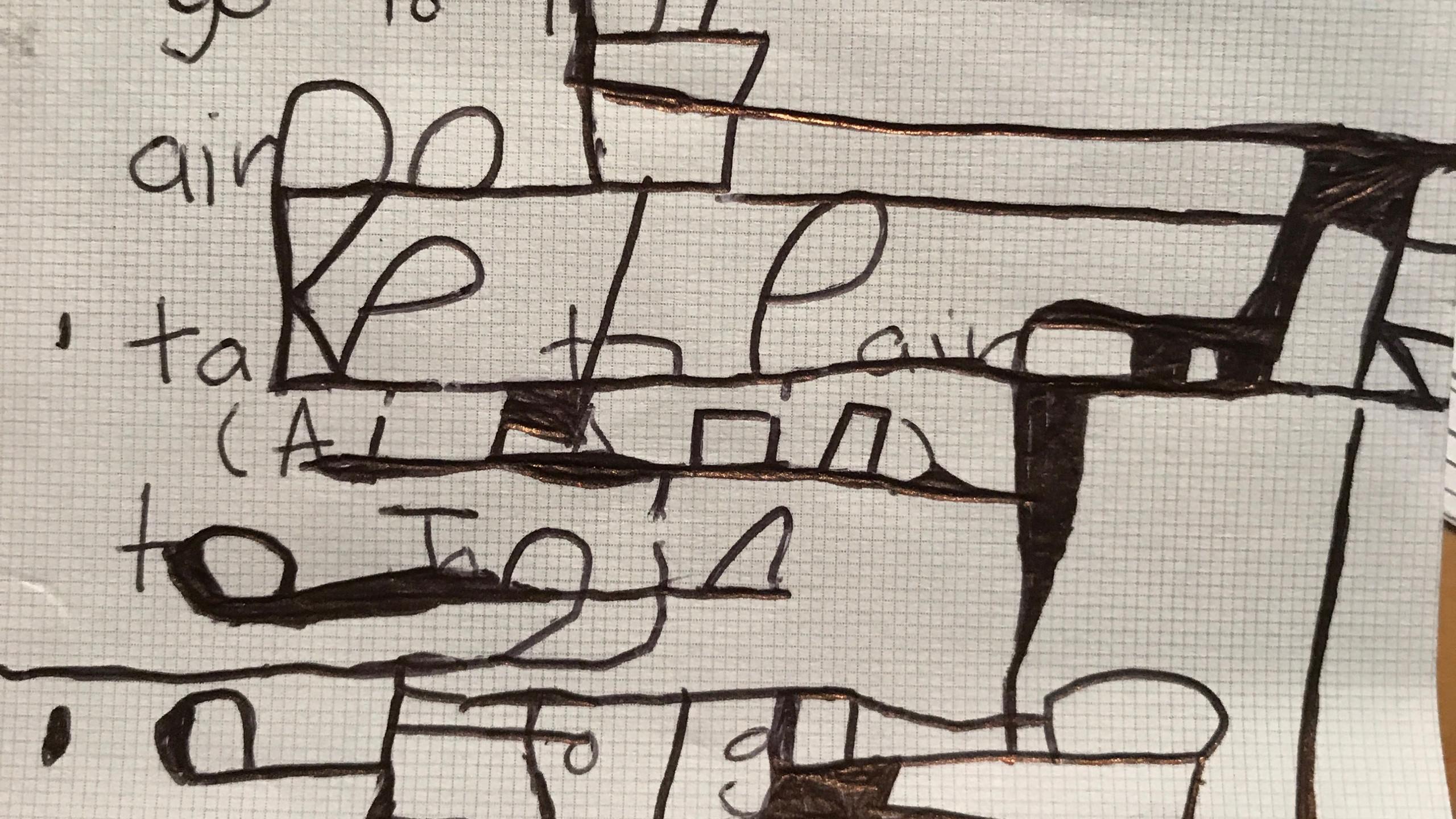Sebastien's handwriting