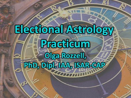 Electional Astrology Practicum: Wednesday January 6th at 7 PM EST, $15