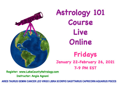 Astrology 101 with Angie! Fridays starting January 22nd