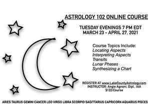 Astrology 102 with Angie Agnoni March 23 - April 27