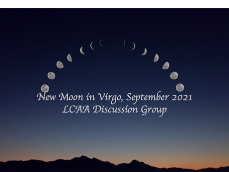 LCAA New Moon Discussion Group, Monday September 6th at 7 PM EDT