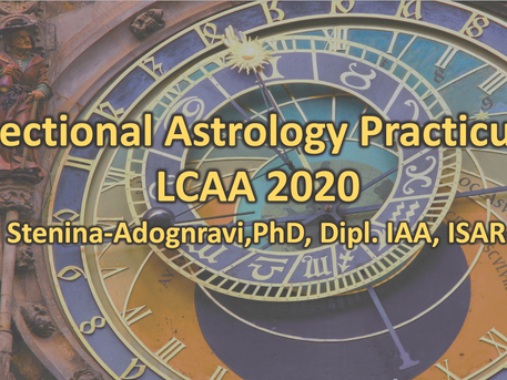 Electional Astrology Practicum: October 7th at 7PM on Zoom $15