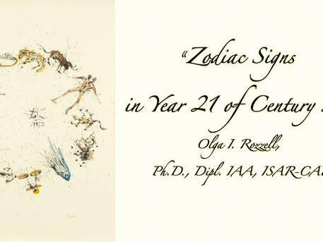 "LCAA Christmas Lecture: Olga Rozzell ""Zodiac Signs in Year 21 of the Century 21"" - via Zoom"