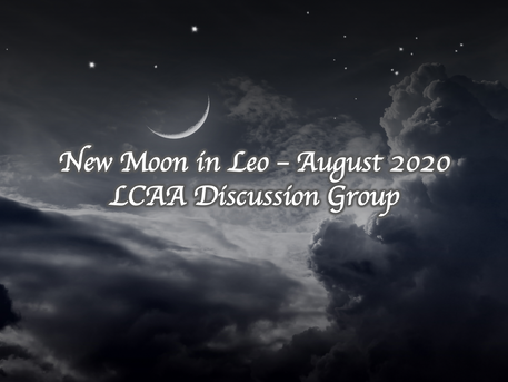 New Moon Discussion: Monday August 17th at 7 PM