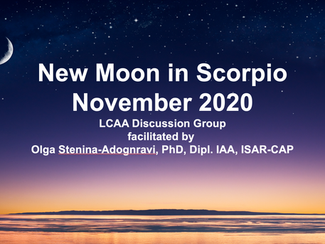 New Moon in Scorpio (LCAA Discussion) November 13th at 7 PM on Zoom