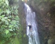 Mike Marino in waterfall