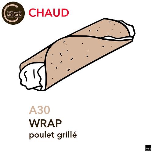 wrap poulet grillé