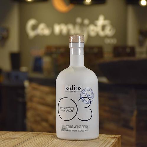 H06-Kalios huile d'olive extra vierge 50cl  3eme récolte