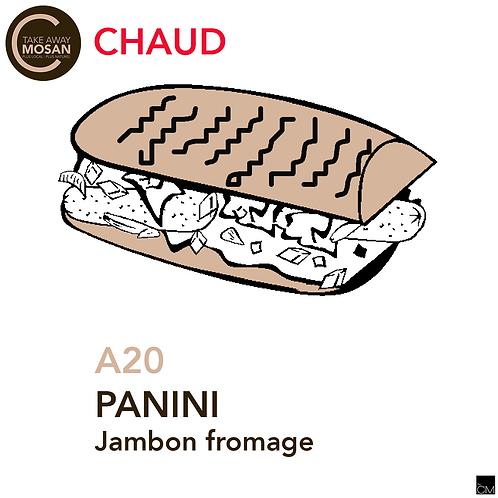Panini jambon fromage