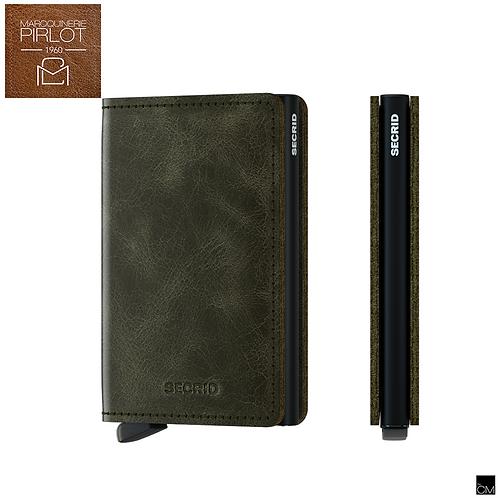 Secrid - Slim Wallet Vintage Olive Black