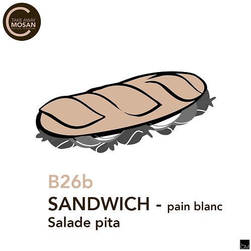 1/2 blanc salade pita