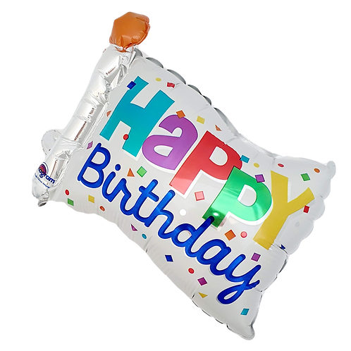 "Happy Birthday 9"" Balloon - Flag"