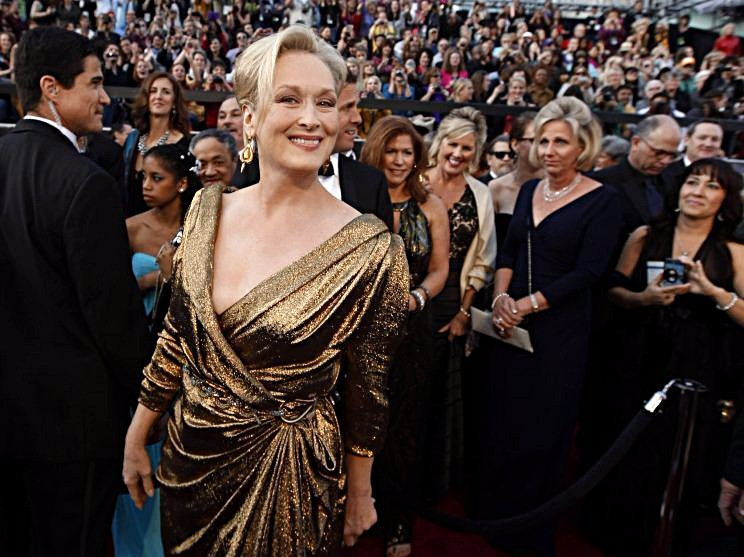 meryl streep wearing lanvin at the 2015 Oscars red carpet