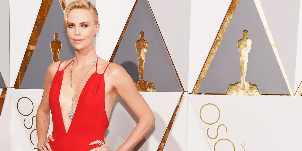 Charlize Theron at the 2016 Oscars in Dior and Chopard
