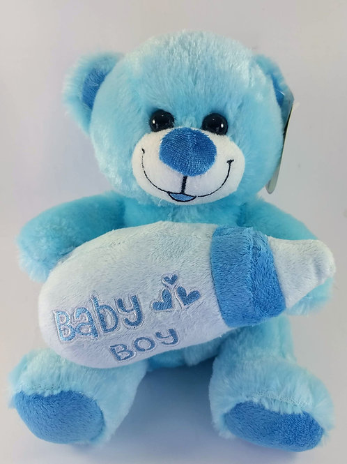 Blue Bear with Bottle - Small