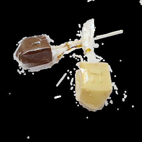 Single Chocolate Dreidel lollipop