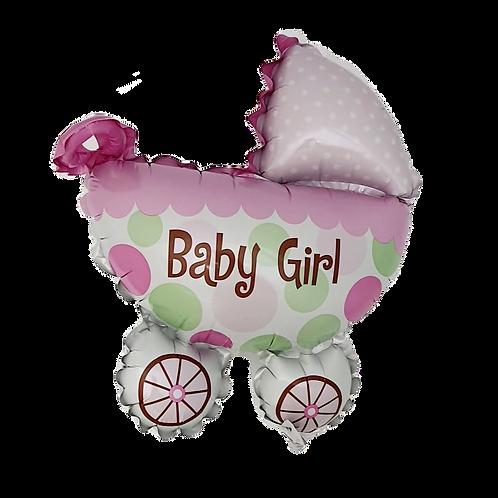 "Baby Girl 9"" Balloon - Carriage"