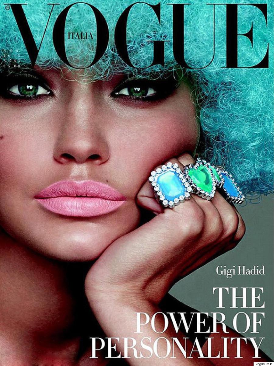 Gigi Hadid on the cover of Vogue Italia