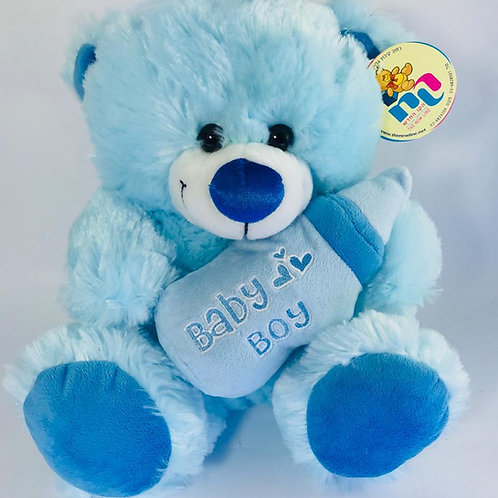 Blue Bear with Bottle - Big