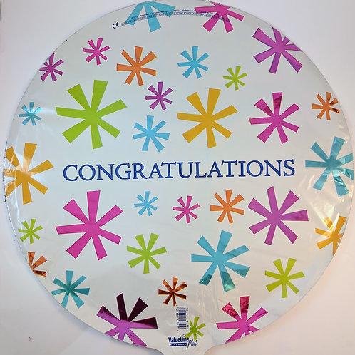 Congratulations Balloon - Bursts