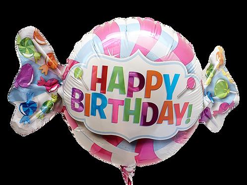 "Happy Birthday 9"" Balloon - Candy"