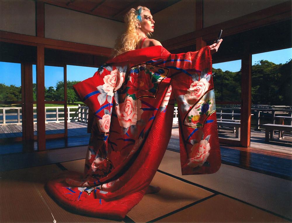 Kimono photoshoot in Japan