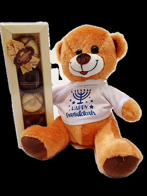 Chanukah Bear + Chocolate Donuts