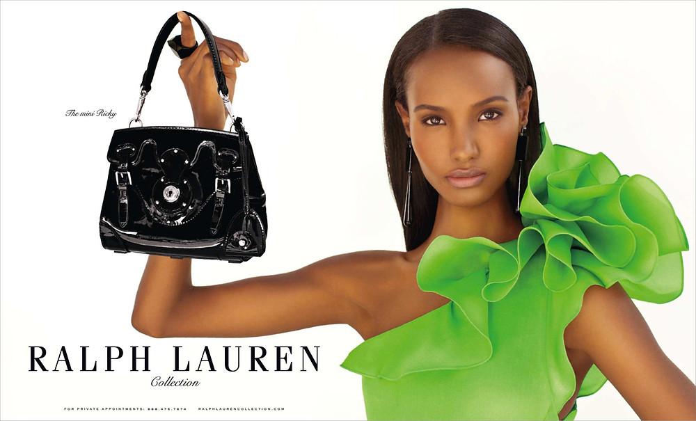 Fatima SIad in Ralph Lauren ad