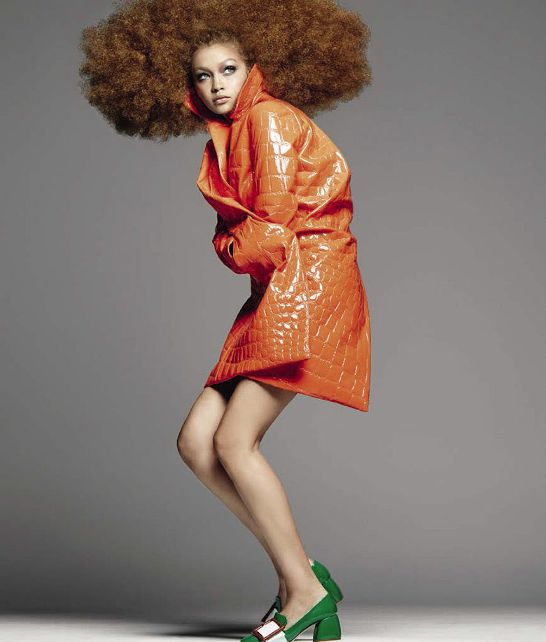 Gigi Hadid in Vogue Italia shot by Steven Meisel