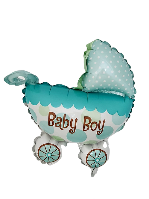 "Baby Boy 9"" Balloon - Carriage"